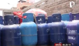 Breña: intervienen camión que transportaba 150 balones de gas informal