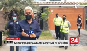Municipio de Chorrillos ayuda a familia víctima de insultos