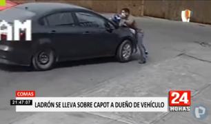 Comas: ladrón de auto arrastró por varios metros a dueño que intentó frenar el robo