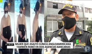 Miraflores: continúan diligencias tras detención de mujer que robó clínica Anglo Americana con falso explosivo
