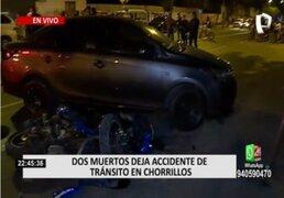 Chorrillos: Dos muertos deja accidente de tránsito en la Av. Los Faisanes