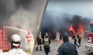 Tumbes: chispa de soldadura genera incendio en almacén