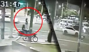 Ciclista fue atropellado en San Borja
