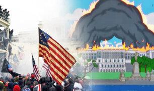Escenas de 'Los Simpson' se hicieron viral por su parecido con el asalto al Capitolio de EE.UU