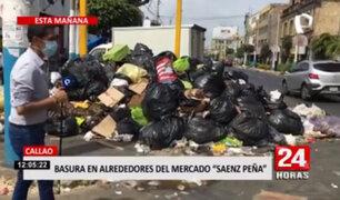 Callao: alrededores del mercado Saenz Peña se encuentran llenos de basura