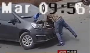 Comas: joven que fue arrastrado por ladrón de autos pide su captura