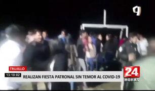 Trujillo: ciudadanos realizaron fiesta patronal pese a prohibiciones