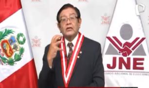 Jorge Salas: Presidente del JNE no se presentó ante la Comisión de Constitución del Congreso