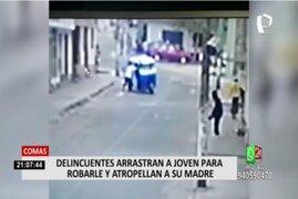 Comas: mujer terminó atropellada tras salir en defensa de su hija que sufrió robo