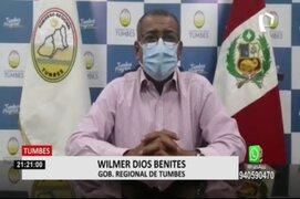 Tumbes: gobernador pide 25 mil vacunas de Sinopharm a presidente Sagasti