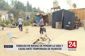 Chosica: familias en riesgo de perder sus casas ante huaicos y desborde del río Rímac