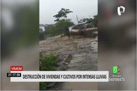 Desborde de río afectó a decenas de familias en el Vraem