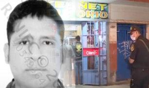 Asesinan a joven de balazo en la cabeza al interior de una cabina de internet