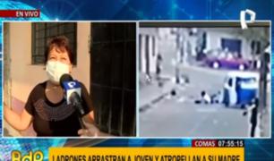 Comas: madre que fue atropellada por 'raqueteros' tras defender a su hija pide resguardo