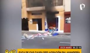 Jesús María: deflagración destruyó lavandería en jirón Huáscar