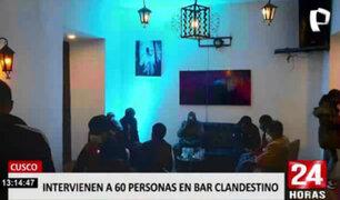 Cusco: autoridades intervinieron a más de 60 personas en un bar