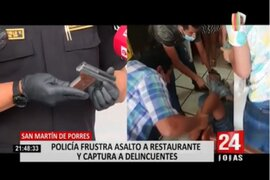 SMP: Policía Nacional frustra robo a restaurante y captura a delincuentes