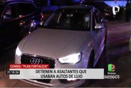 Comas: detienen a asaltantes que usaban autos de lujo