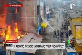 Ventanilla: incendio en mercado Villa Pachacútec dejó al menos cinco puestos afectados