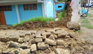 Áncash: intensas lluvias provocan derrumbe del cerco perimétrico de un colegio