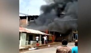 Tumbes: voraz incendio consume vivienda de una familia