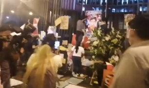 Plantón exigiendo identificar a responsables por muerte de Bryan Pintado e Inti Sotelo