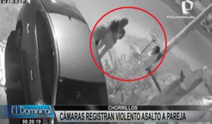 Chorrillos: cámaras de seguridad registran violento asalto a pareja