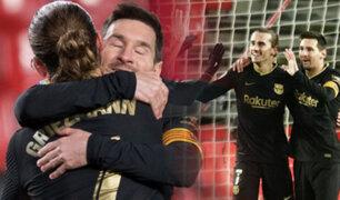 Con goles de Messi y Griezmann: Barcelona goleó 4-0 al Granada