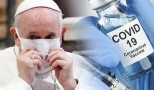 Papa Francisco anuncia que se vacunará la próxima semana