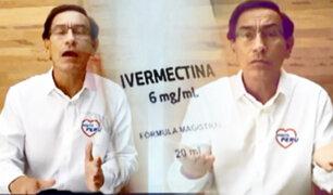 ¡El candidato Ivermectina! Vizcarra recomienda tratamientos contra la Covid-19 en su campaña