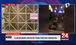 Municipalidad de Punta Hermosa clausuró locales tras fiestas COVID