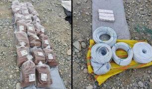 Arequipa: incautan 260 sacos con oro no procesado y explosivos durante operativos