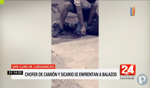 SJL: chófer de camión y sicario desataron balacera en avenida Canto Grande