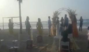 Tumbes: intervienen a más de 30 personas que participaban de boda en la playa pese a prohibición