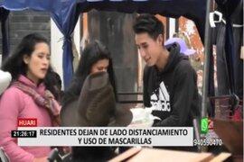 Áncash: Residentes no usan mascarillas ni respetan distanciamiento en Huari