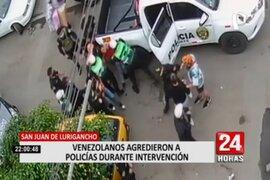 SJL: Extranjeros que bebían en la calle agredieron a efectivos de la PNP durante intervención