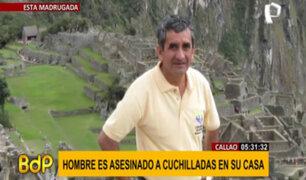 Callao: hombre es asesinado a cuchilladas en su vivienda
