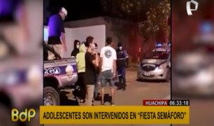 """Huachipa: adolescentes son intervenidos en """"fiesta semáforo"""""""