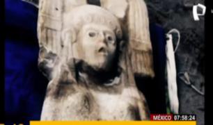 México: hallan estatua femenina prehispánica de dos metros
