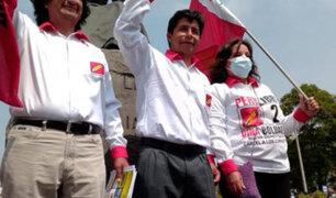Pedro Castillo recibirá flash electoral en local partidario en Cajamarca