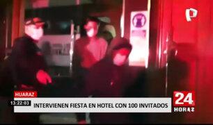Huaraz: más de 100 personas fueron intervenidas en un hotel