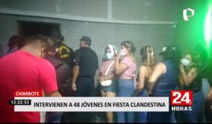Policías intervinieron 48 personas durante fiesta COVID en Chimbote