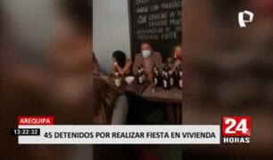 Arequipa: PNP intervino 45 personas en una casa que se realizaba fiesta COVID