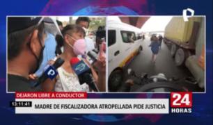 Madre de fiscalizadora atropellada pide justicia