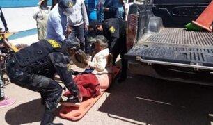 Anciana sobrevive tras ser embestida por motocicleta en Puno