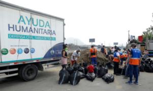 MML entregó sacos terreros a pobladores ante incremento del caudal del Río Rímac