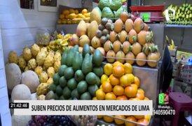 Alimentos de la canasta familiar registran aumento en mercados de Lima