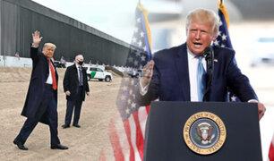 Donald Trump visita el muro fronterizo de EEUU – México