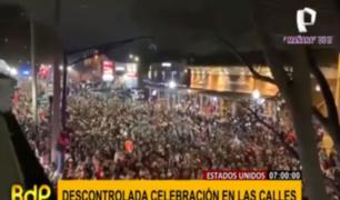 EEUU: marea humana celebra por título de fútbol americano pese a COVID-19