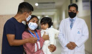 ¡Nueva oportunidad de vida!: Salvan a bebé de 7 meses tras extirparle tumor intestinal